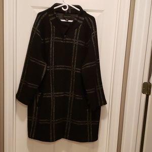 Black and white window pain coat